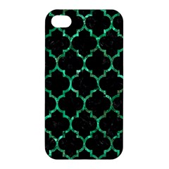 Tile1 Black Marble & Green Marble (r) Apple Iphone 4/4s Premium Hardshell Case by trendistuff