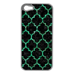 Tile1 Black Marble & Green Marble (r) Apple Iphone 5 Case (silver) by trendistuff