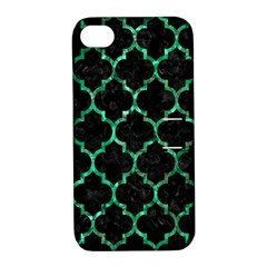 Tile1 Black Marble & Green Marble (r) Apple Iphone 4/4s Hardshell Case With Stand by trendistuff
