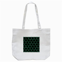 Tile1 Black Marble & Green Marble (r) Tote Bag (white) by trendistuff