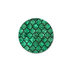 Tile1 Black Marble & Green Marble Golf Ball Marker (4 Pack) by trendistuff