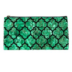 Tile1 Black Marble & Green Marble Pencil Case by trendistuff