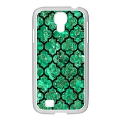 Tile1 Black Marble & Green Marble Samsung Galaxy S4 I9500/ I9505 Case (white) by trendistuff