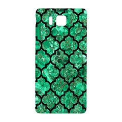 Tile1 Black Marble & Green Marble Samsung Galaxy Alpha Hardshell Back Case by trendistuff