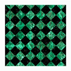 Square2 Black Marble & Green Marble Medium Glasses Cloth (2 Sides) by trendistuff