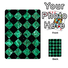 Square2 Black Marble & Green Marble Multi Purpose Cards (rectangle) by trendistuff