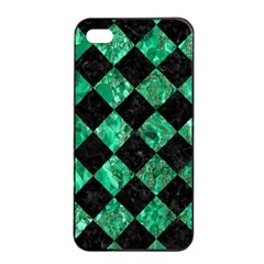 Square2 Black Marble & Green Marble Apple Iphone 4/4s Seamless Case (black)