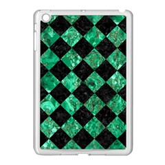 Square2 Black Marble & Green Marble Apple Ipad Mini Case (white) by trendistuff
