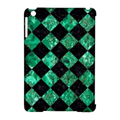 Square2 Black Marble & Green Marble Apple Ipad Mini Hardshell Case (compatible With Smart Cover) by trendistuff