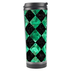 Square2 Black Marble & Green Marble Travel Tumbler by trendistuff