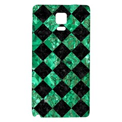 Square2 Black Marble & Green Marble Samsung Note 4 Hardshell Back Case by trendistuff