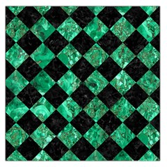 Square2 Black Marble & Green Marble Large Satin Scarf (square) by trendistuff