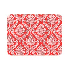 Salmon Damask Double Sided Flano Blanket (mini)  by SalonOfArtDesigns