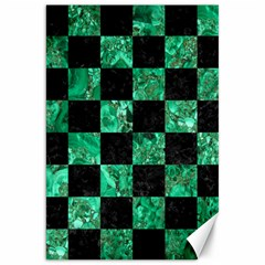 Square1 Black Marble & Green Marble Canvas 20  X 30  by trendistuff