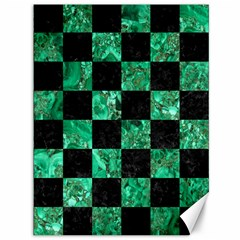 Square1 Black Marble & Green Marble Canvas 36  X 48  by trendistuff