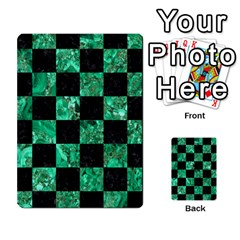 Square1 Black Marble & Green Marble Multi Purpose Cards (rectangle) by trendistuff