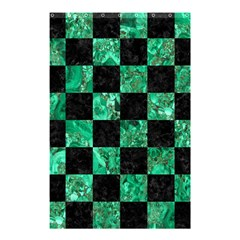 Square1 Black Marble & Green Marble Shower Curtain 48  X 72  (small) by trendistuff