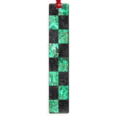Square1 Black Marble & Green Marble Large Book Mark by trendistuff