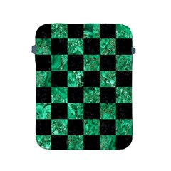 Square1 Black Marble & Green Marble Apple Ipad 2/3/4 Protective Soft Case by trendistuff