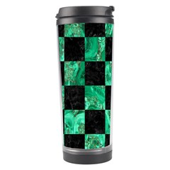 Square1 Black Marble & Green Marble Travel Tumbler by trendistuff