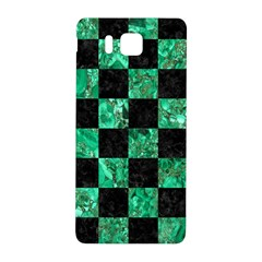 Square1 Black Marble & Green Marble Samsung Galaxy Alpha Hardshell Back Case by trendistuff
