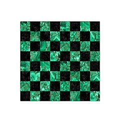 Square1 Black Marble & Green Marble Satin Bandana Scarf