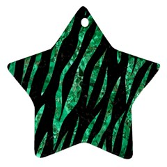 Skin3 Black Marble & Green Marble (r) Ornament (star) by trendistuff
