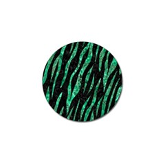 Skin3 Black Marble & Green Marble (r) Golf Ball Marker