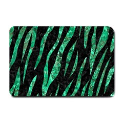 Skin3 Black Marble & Green Marble (r) Small Doormat by trendistuff