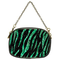 Skin3 Black Marble & Green Marble (r) Chain Purse (one Side) by trendistuff