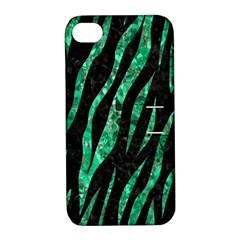 Skin3 Black Marble & Green Marble (r) Apple Iphone 4/4s Hardshell Case With Stand by trendistuff