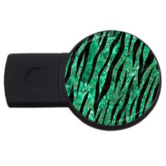 Skin3 Black Marble & Green Marble Usb Flash Drive Round (4 Gb) by trendistuff