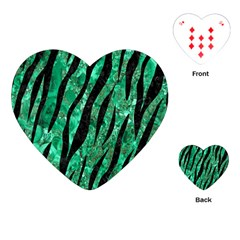 Skin3 Black Marble & Green Marble Playing Cards (heart) by trendistuff