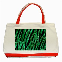Skin3 Black Marble & Green Marble Classic Tote Bag (red) by trendistuff