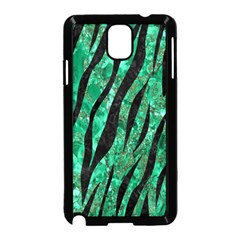 Skin3 Black Marble & Green Marble Samsung Galaxy Note 3 Neo Hardshell Case (black) by trendistuff