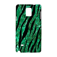 Skin3 Black Marble & Green Marble Samsung Galaxy Note 4 Hardshell Case by trendistuff
