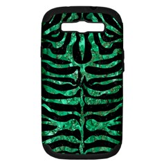 Skin2 Black Marble & Green Marble (r) Samsung Galaxy S Iii Hardshell Case (pc+silicone) by trendistuff