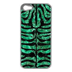 Skin2 Black Marble & Green Marble Apple Iphone 5 Case (silver) by trendistuff