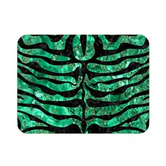 Skin2 Black Marble & Green Marble Double Sided Flano Blanket (mini)
