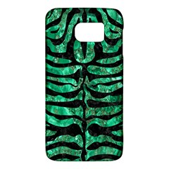 Skin2 Black Marble & Green Marble Samsung Galaxy S6 Hardshell Case  by trendistuff