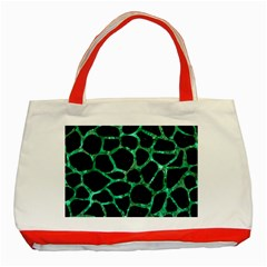 Skin1 Black Marble & Green Marble Classic Tote Bag (red) by trendistuff