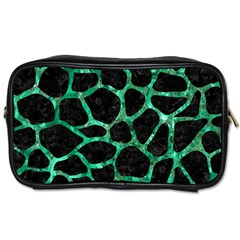 Skin1 Black Marble & Green Marble Toiletries Bag (two Sides) by trendistuff