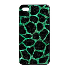 Skin1 Black Marble & Green Marble Apple Iphone 4/4s Seamless Case (black) by trendistuff