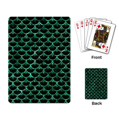 Scales3 Black Marble & Green Marble (r) Playing Cards Single Design by trendistuff