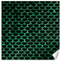 Scales3 Black Marble & Green Marble (r) Canvas 16  X 16  by trendistuff