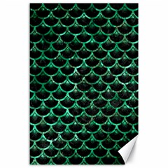 Scales3 Black Marble & Green Marble (r) Canvas 24  X 36  by trendistuff
