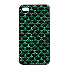 Scales3 Black Marble & Green Marble (r) Apple Iphone 4/4s Seamless Case (black)