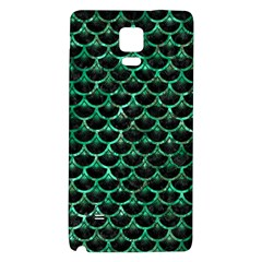 Scales3 Black Marble & Green Marble (r) Samsung Note 4 Hardshell Back Case by trendistuff