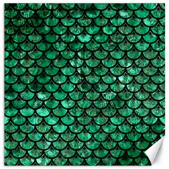 Scales3 Black Marble & Green Marble Canvas 20  X 20  by trendistuff