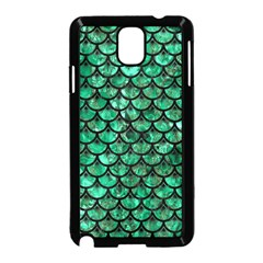 Scales3 Black Marble & Green Marble Samsung Galaxy Note 3 Neo Hardshell Case (black) by trendistuff